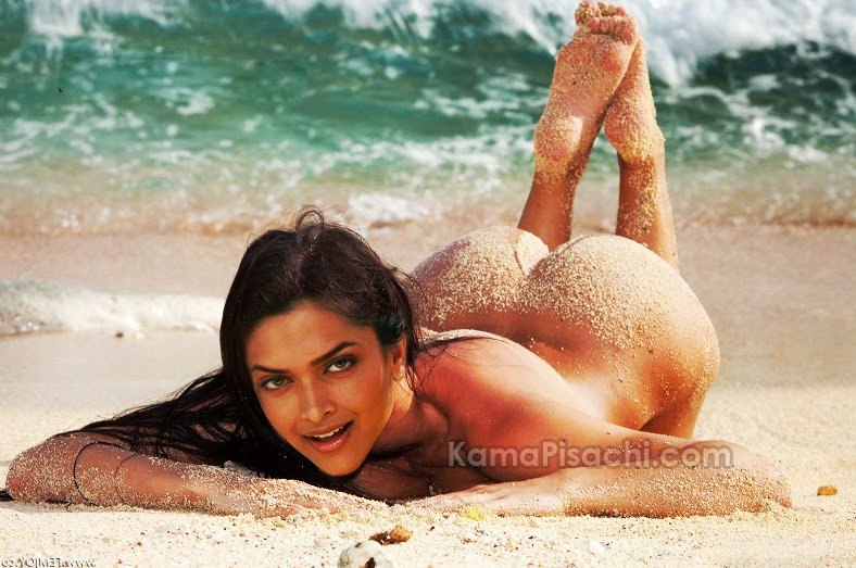 Deepika Padukone showing her lying on beach completely nude